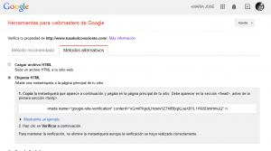Como verificar tu web en Google y Pinterest